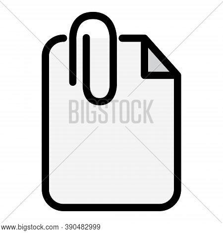Attach File Icon. Document Attachment Symbol For Perfect Web And Mobile Illustrations.