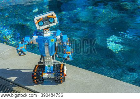 Nice, France. 16 October, 2020. Robotics. The Lego Boost Robot Car. Science, Technology, Engineering