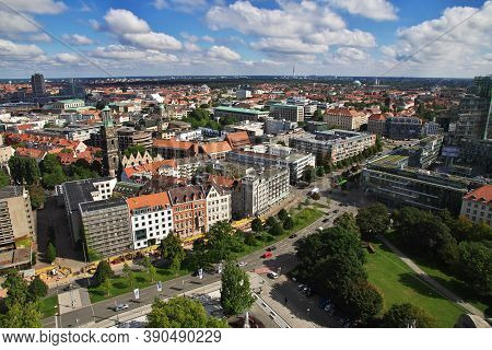 Hanover, Germany - 10 Sep 2015: The Panoramic View On Hanover City, Germany