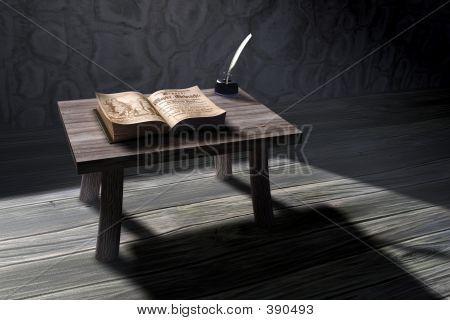 3d Old Study Scene