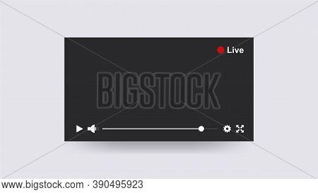 Stream Player Online. Multimedia Broadcast Of Fashionable Blogger Digital Modern Technologies Uninte