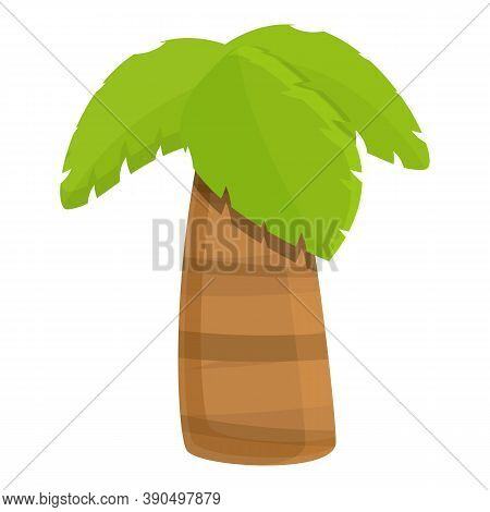 Thick Palm Tree Icon. Cartoon Of Thick Palm Tree Vector Icon For Web Design Isolated On White Backgr