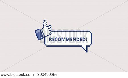 Recommended Pixel Icon. Symbol Of Quality Promotion Product And Certified Seller Marketing Guarantee