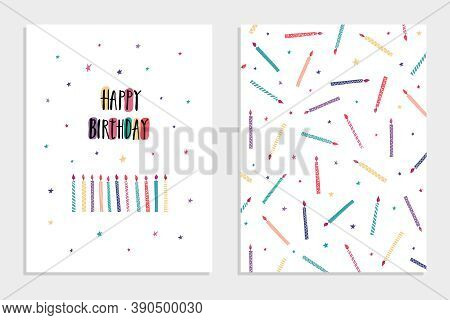 Collection Of Set Of Cards And Invitations Multicolored In The Style Of Doodle And Hand Drawing. Can
