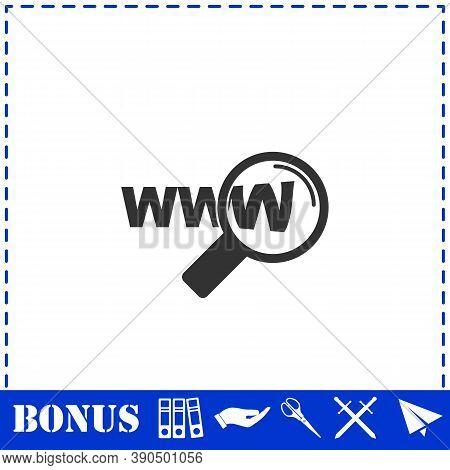 Website Search Icon Flat. Simple Vector Symbol And Bonus Icon