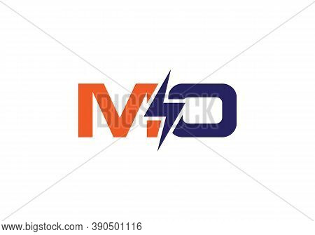 Electric Industrial Power Logo With Letter Mo
