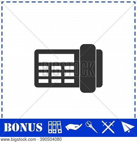 Fax Icon Flat. Simple Vector Symbol And Bonus Icon