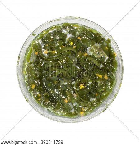 Sea Kale.sea Kale Vitamin Salad.background Seaweed Is The Top View.