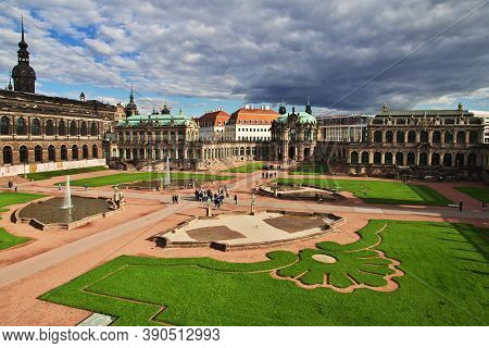Dresden, Saxony, Germany - 07 Sep 2015: Zwinger Palace In The Center Of Dresden, Saxony, Germany