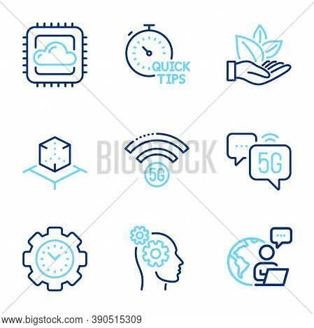 Science Icons Set. Included Icon As Quick Tips, Cloud Computing, Augmented Reality Signs. Thoughts,