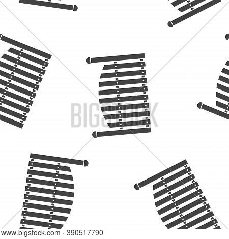 Fence Vector Icon Seamless Pattern On A White Background.
