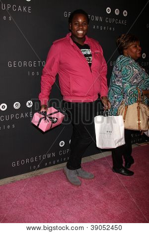 LOS ANGELES - NOV 15:  Alex Newell arrives for the Georgetown Cupcakes Los Angeles Grand Opening at Georgetown Cupcake Los Angeles on November 15, 2012 in Los Angeles, CA