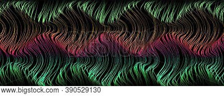 Futuristic Volumetric Landscape. Top View Of The Topology Of The Space With Hills And Valleys From A