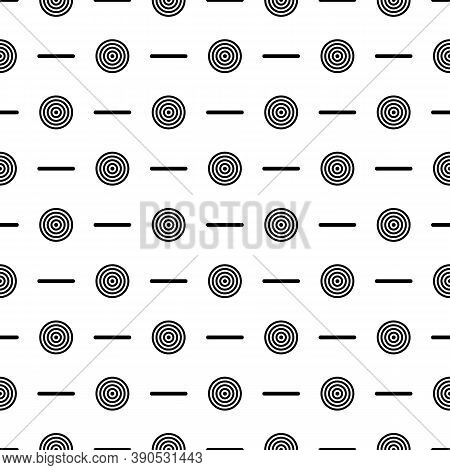 Circles, Strokes Seamless Pattern. Dots, Dashes Print. Polka Dot, Lines Ornament. Circular, Linear F