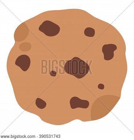 Christmas Chocolate Homemade Cookie Icon. Flat Illustration Of Christmas Chocolate Homemade Cookie V
