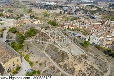 Hill Square Saint Barbara Montblanc, Catalonia Spain There Are Remains Of An Iberian Town.