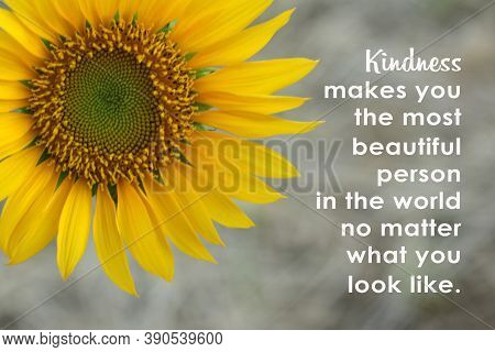 Inspirational Words - Kindness Makes You The Most Beautiful Person In The World No Matter What You L