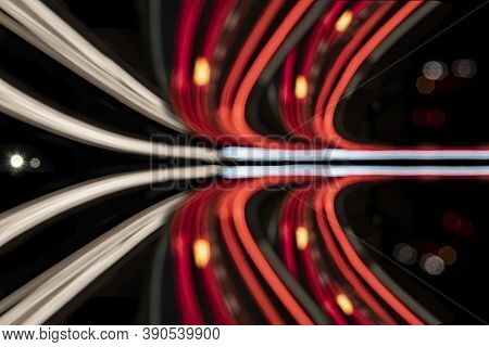 Abstract Background With Light Rays Out Of Fokus