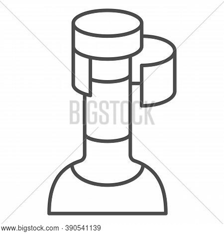 Wine Cork In Bottle Thin Line Icon, Wine Festival Concept, Bottle With Cork Stopper Sign On White Ba