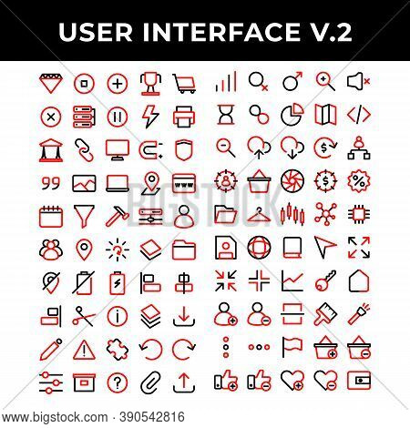 User Interface Icons Set Include Diamond,pause,plus,achievement,shopping,cross,data Base,pause,energ