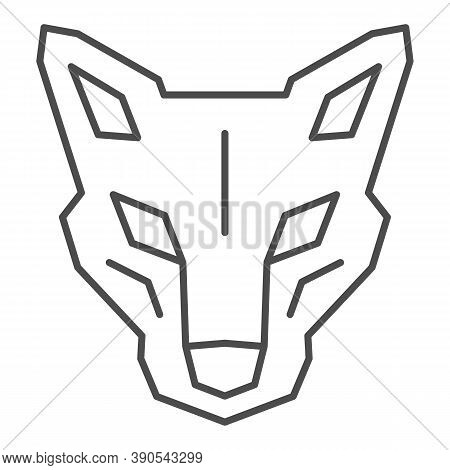Robot Dog Head Thin Line Icon, Robotization Concept, Robotic Wolf Sign On White Background, Head Of