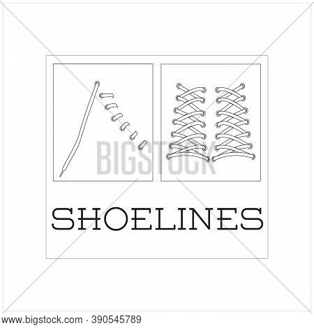 Beauty Model Shoelace Icon  Isolated On White Background Vector Illustration