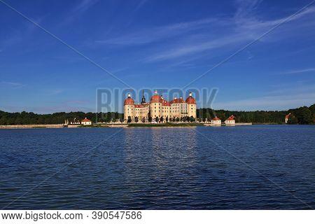 Moritzburg, Saxony, Germany - 08 Sep 2015: Moritzburg Schloss, The Vintage Palace In Saxony, Germany