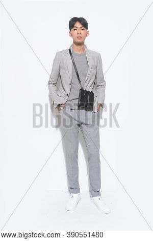 adult, attractive, background, beard,  casual,  confident, elegant, executive, expression, fashion, full, full body, full length, full length ,man, guy, handsome, handsome man, happy, isolated, , life