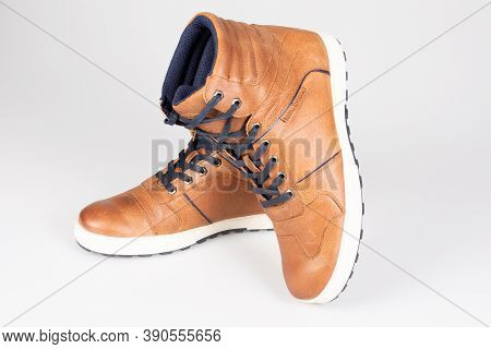 Bordeaux , Aquitaine / France - 16 10 2020 : Royal Enfield Pair Boots Motorcycle Leather Sneakers Wa