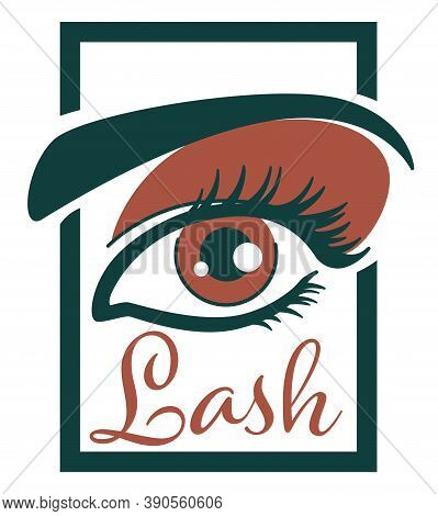 Lash Extension And Professional Care Of Eyelashes Vector