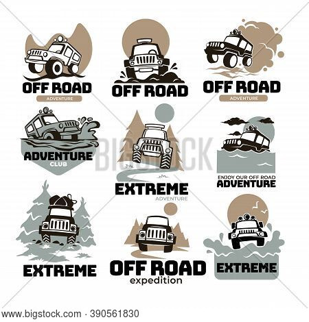 Off Road Extreme Expedition And Adventure, Labels And Emblems