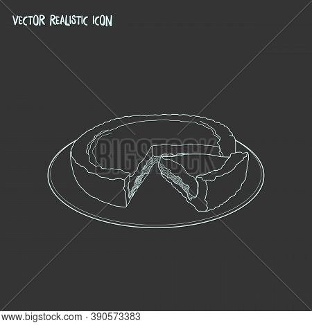 North Dakota Icon Line Element. Vector Illustration Of North Dakota Icon Line Isolated On Clean Back