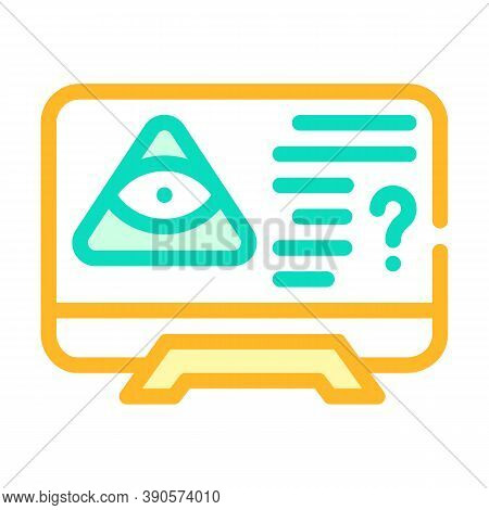 Worldwide Conspiracy Of Secret Organizations Color Icon Vector Illustration