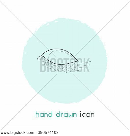 Eyelash Icon Line Element. Vector Illustration Of Eyelash Icon Line Isolated On Clean Background For