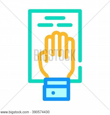Oath On Constitution Color Icon Vector Illustration