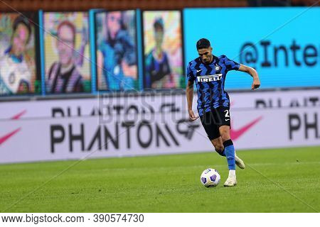 Milano (italy), 17th October 2020. Achraf Hakimi Of Fc Internazionale During The Serie A Match Betwe