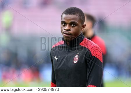 Milano (italy), 17th October 2020. Pierre Kalulu   Of Ac Milan In Action   During The  Serie A Match