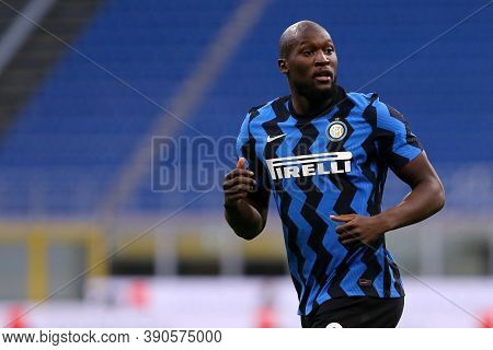 Milano (italy), 17th October 2020. Romelu Lukaku Of Fc Internazionale During The Serie A Match Betwe