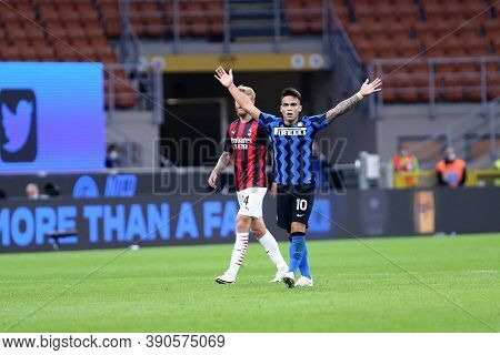 Milano (italy), 17th October 2020. Lautaro Martinez Of Fc Internazionale During The Serie A Match Be