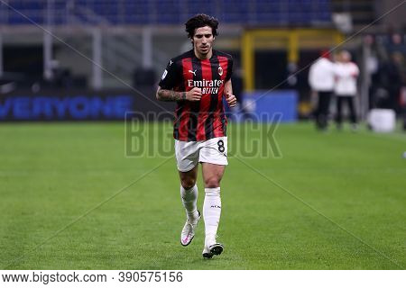 Milano (italy), 17th October 2020. Sandro Tonali  Of Ac Milan   During The  Serie A Match  Between F
