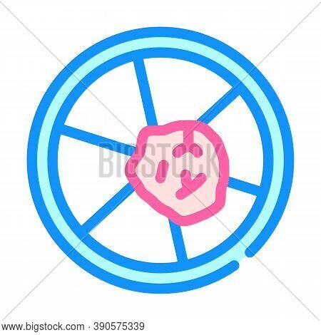 Petri Dish With Biopsy Color Icon Vector Illustration