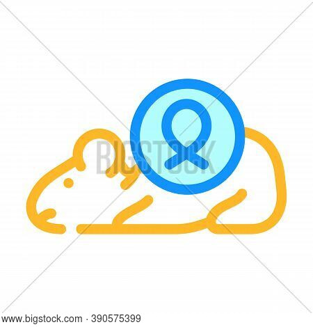 Mouse For Test Medicaments Color Icon Vector Illustration