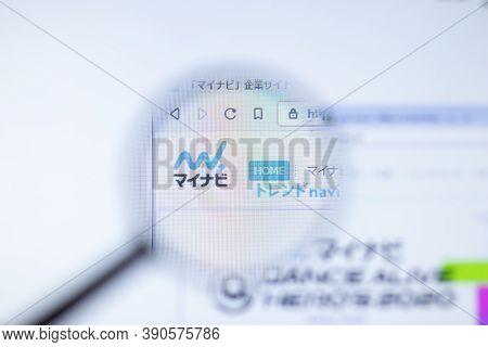 New York, Usa - 29 September 2020: Mynavi.jp Company Website With Logo Close Up, Illustrative Editor