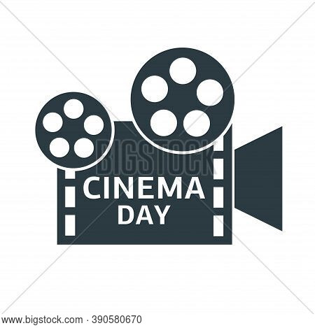 Cinema Camera. Logotype Cinema. Cinema Day. Cinematography.