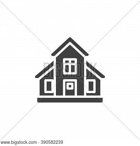 Country House Vector Icon. Filled Flat Sign For Mobile Concept And Web Design. Townhouse, Cottage Bu