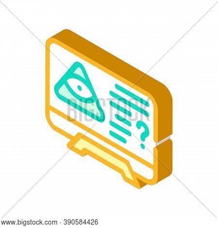 Worldwide Conspiracy Of Secret Organizations Isometric Icon Vector Illustration