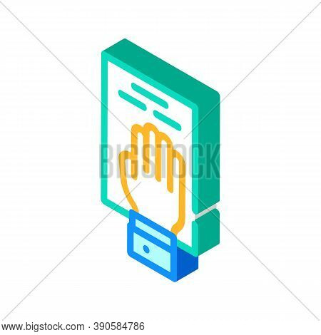 Oath On Constitution Isometric Icon Vector Illustration