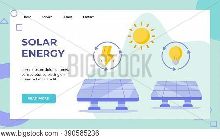 Solar Energy Panel Sun Power Campaign For Web Website Home Homepage Landing Page Template Banner Wit