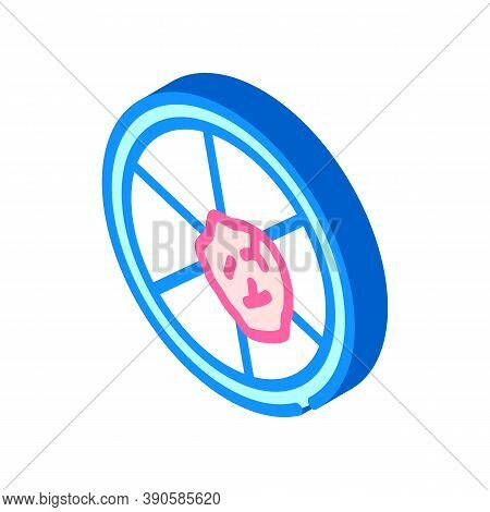 Petri Dish With Biopsy Isometric Icon Vector Illustration