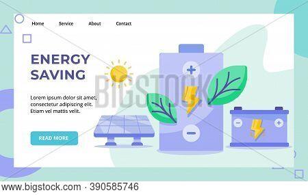 Energy Saving Green Leaf Lightning Battery Campaign For Solar Energy Sun Website Home Homepage Landi